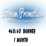 Your 468x60 Banner In My Forum Promotion Signature 1 Month