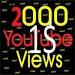 Non drop 2000+ HR Youtube Vie ws