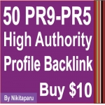 50 PR9 Paul Angela High Authority Quality Profile Backlinks