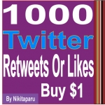 Get Fast 1000 Twitter Retweets or Likes