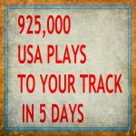 925,000 ORGANIC USA PLAY/S IN 7 DAYS