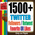 Promote your Account with 1,500+ HQ Followers Or Retweet or Likes/Favorite