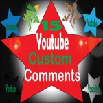 Non-Drop 15 custom comments + 500 likes & 15 subscribers on your video Only