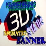 Professional 3D Animated or Static Banner or Header Designs