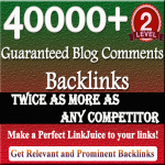 Provide you a massive 40000 Blog Comment Backlinks to improve your Google rank for
