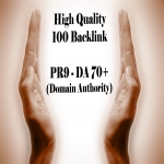 100 PR9 - DA 70+ backlink Domain Authority