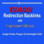 Make 50 Edu and Gov Redirect Backlinks PR10-PR5 with Ping+Index+RSS Feed