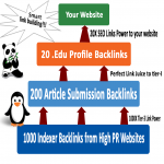 Rocket Your SEO Ranking with 3 Tier Link Pyramid 20. edu, 200 Article, 1000 Indexers Links