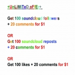 Most real non-drop 150 soundcloud likes or 150 soundcloud followers or 150 soundcloud reposts + soundcloud 20 comments