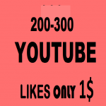 200-400 YOU TUBE LIKES IN 6 HOURS