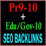 Manually Pr9-10 + Edu-Gov-10 Safe Seo High PR Seo Backlinks