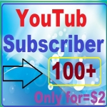 Guaranteed 100+youtube subscriber with Bonus free manually work complete