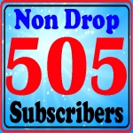 High quality 505+ You-Tube sub-scribes fully safe and non drop within Refill guarantee