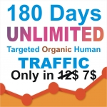 180 days UNLIMITED Keywords Targeted REAL HUMAN WEBSITE TRAFFIC