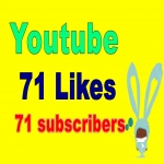 71 youtube subscribers and 71 likes