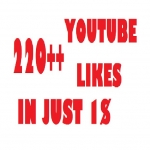 220 + Youtube Likes Lowest Price Ever Super Fast Delivery
