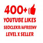 i will add Super Fast 400+ YOUTUBE LIK ES