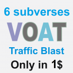 Porn Website Traffic Blast on Voat post in 6 subverses