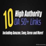 10 Manual Backlinks from Amazon,  Linksys,  Sony,  Xerox and MORE DA 50+