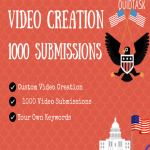 Create a video and submit on 1000 Websites with backlink and keywords
