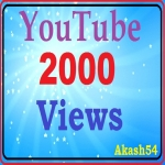 Safe YouTube 2000 views+150 subscribers+150 likes active with very fast order complete