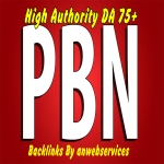10 Permanent Dofollow High DA 75+ Authority PBN Backlinks