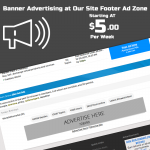 One Week Banner Advertising at Paid to Post forum FORUM FOR U footer Ad Zone