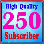Guarantee 250 High quality Subscribers to your channel 24-72 hours complete only