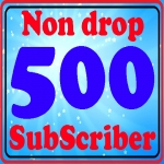 Safe 500+ Subscriber Non drop with refill guarantee Instant start only