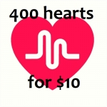 Greatest 400 Hearts Will be Added to Your Musical. ly Videos Just