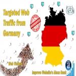 Send 25.000 Germany web visitors real targeted geo traffic