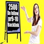 Serve 2500 do follow PR-3 to 9 backlinks to get rank on google