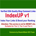 IndexUP v1 - 1,000 Verified GSA Quality Blog Comment Links