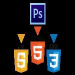 Convert PSD to HTML CSS JavaScript