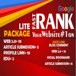 LITE PACKAGE - Manual Work - Latest Google Algorithm Breaker To Improve Your Ranking Towards Page 1