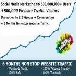 50,000,000 Social Media Marketing and 500,000 Website Traffic Explosion service