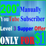 Get 200+ Manually Non Drop You-Tube Subs-cribers Add Your Channel Only
