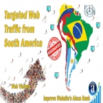 Send 25.000 South America web visitors real targeted geo traffic