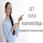 Give you 10 Automated PLR Blogs Integrated with Clickbank & Amazon