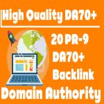 Unique PBN 20 PR9 DA70+ backlink Domain Authority