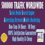500000 Traffic Worldwide from Search engine & Social Media for 7