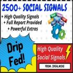 2500+ Super SEO Social Signals Shares Bookmarks Backlinks Powerful Google Ranking Factors