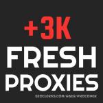 +3K Worldwide Fresh Proxies