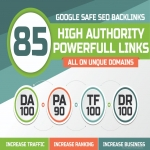 TOP OFFER -Build 85 Unique Domain SEO Backlinks On TF100 DA100 Sites Only AladdinSEO