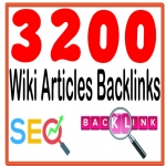 DO Create 3200 HQ. Wiki articles PR6 to PR10 Backlinks and rank higher on Google.
