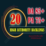 10 + 10 High Authority Backlinks DA85+ PA75+ Ultimate Domain Authority Booster