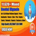Kickstart Your 2019 Google Rankings w/ 11,620+ Mixed Social Signals Power Pack Bookmarks Backlinks