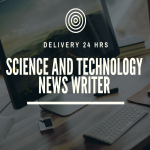 Science and Technology News Content Writer