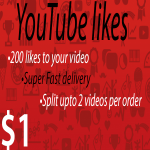200 Instant likes to your YouTube views