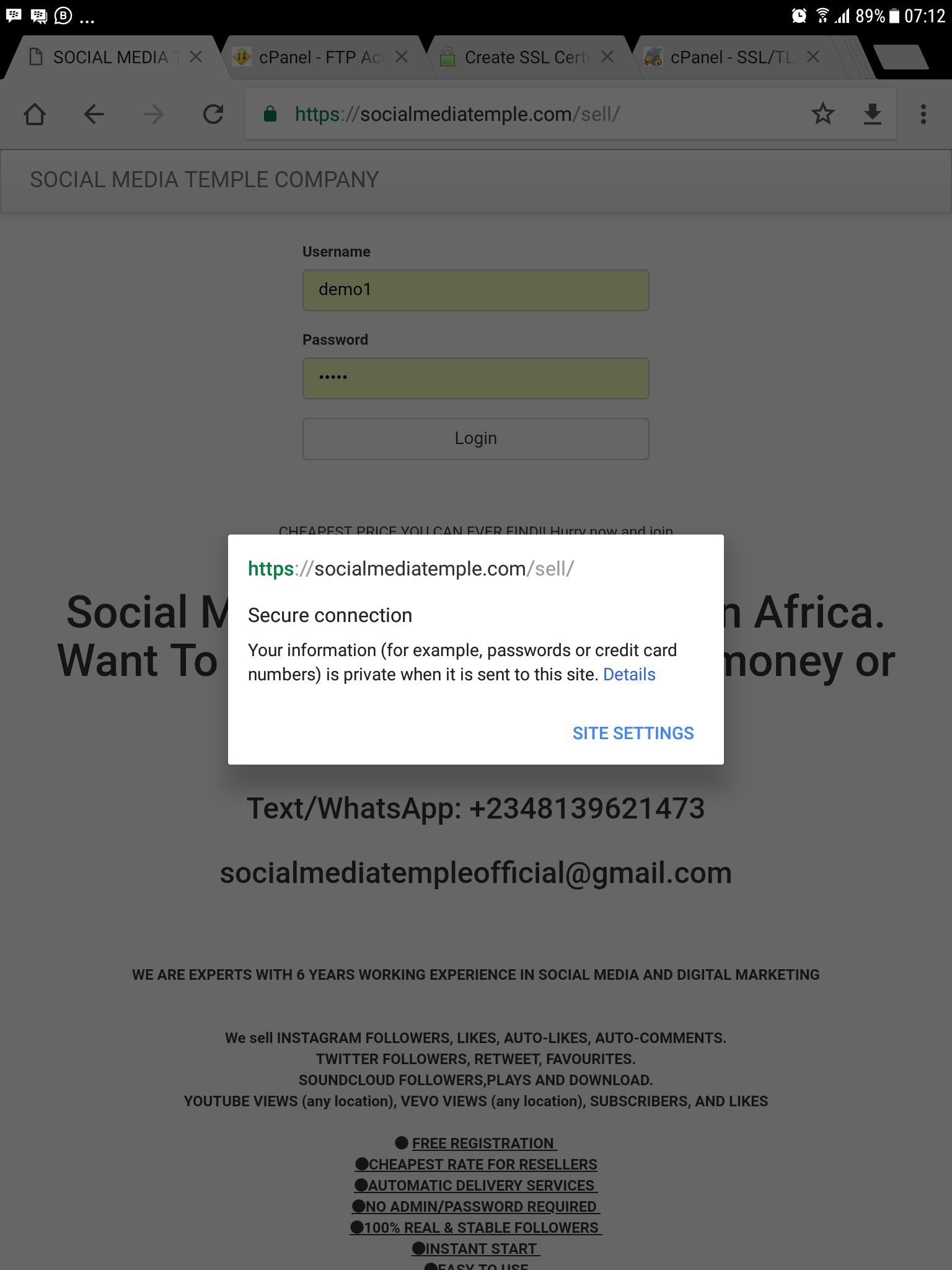 Edit my smm script and clear error